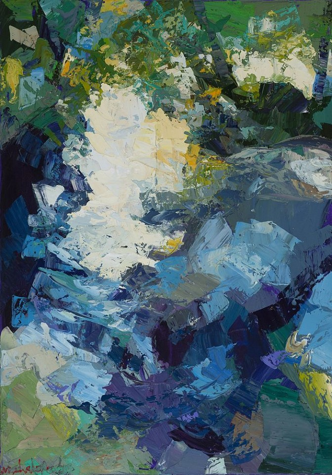 James Michalopoulos ,   In the Abstract      Oil on Canvas ,  39 x 27 in.