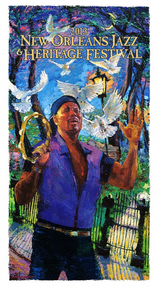 James Michalopoulos ,   2013 Aaron Neville Jazz Fest Poster      Print      OPTIONS AVAILABLE: