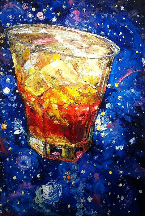 James Michalopoulos ,   Cosmic Sip      Oil on Wood ,  72 x 48 in.